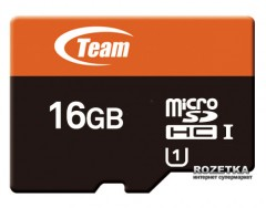 Team MicroSDHC UHS-1 16GB + SD-adapter(TUSDH16GUHS03)