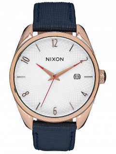 Часы NIXON A473-2160 Bullet Leather Rose Gold Navy 38mm 5ATM