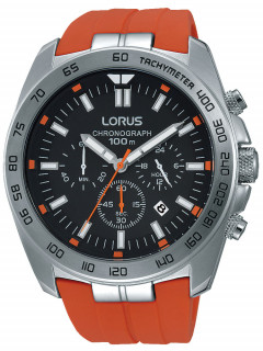 Часы Lorus RT331EX9 Sport Chronograph 46mm silber orange 100M