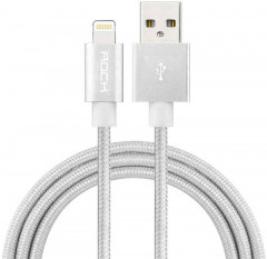Кабель Rock Charge & Sync round Lightning Cable II 0.3 m White
