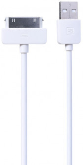 Кабель Remax Light Cable For iPhone 4 1m White