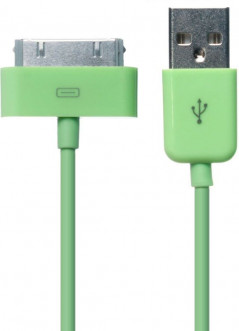 Кабель GOLF GC-01a High Speed iPhone4 cable 0.9m Green