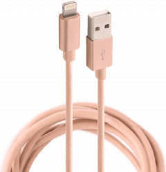 Кабель Rock MFI Charge & Sync round Cable II 1,8 m Rose Gold