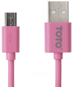 Кабель TOTO TKG-17 High speed USB cable microUSB 0.9m Pink