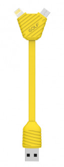 Кабель GOLF GC-28S Pineapple Series Micro&Lightning cable Yellow