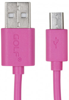 Кабель GOLF GC-01M High Speed Micro cable 0.9m Pink
