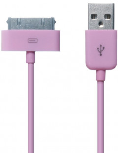 Кабель GOLF GC-01a High Speed iPhone4 cable 0.9m Pink