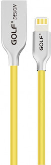 Кабель GOLF GC-32I Velocity Kirsite Lightning cable 1m Yellow