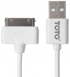 Кабель TOTO TKG-15 High speed USB cable iPhone4 0.9m White