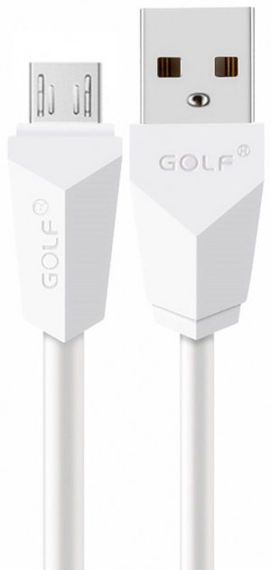 Кабель GOLF GC-27M Diamond USB cable microUSB 2m White