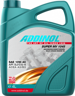 Моторна олива Addinol SUPER MV 1045 SAE 10W-40 4 літри