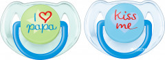 Пустышка Philips AVENT Classic I love 6-18 мес 2 шт (SCF172/70_blue/green)