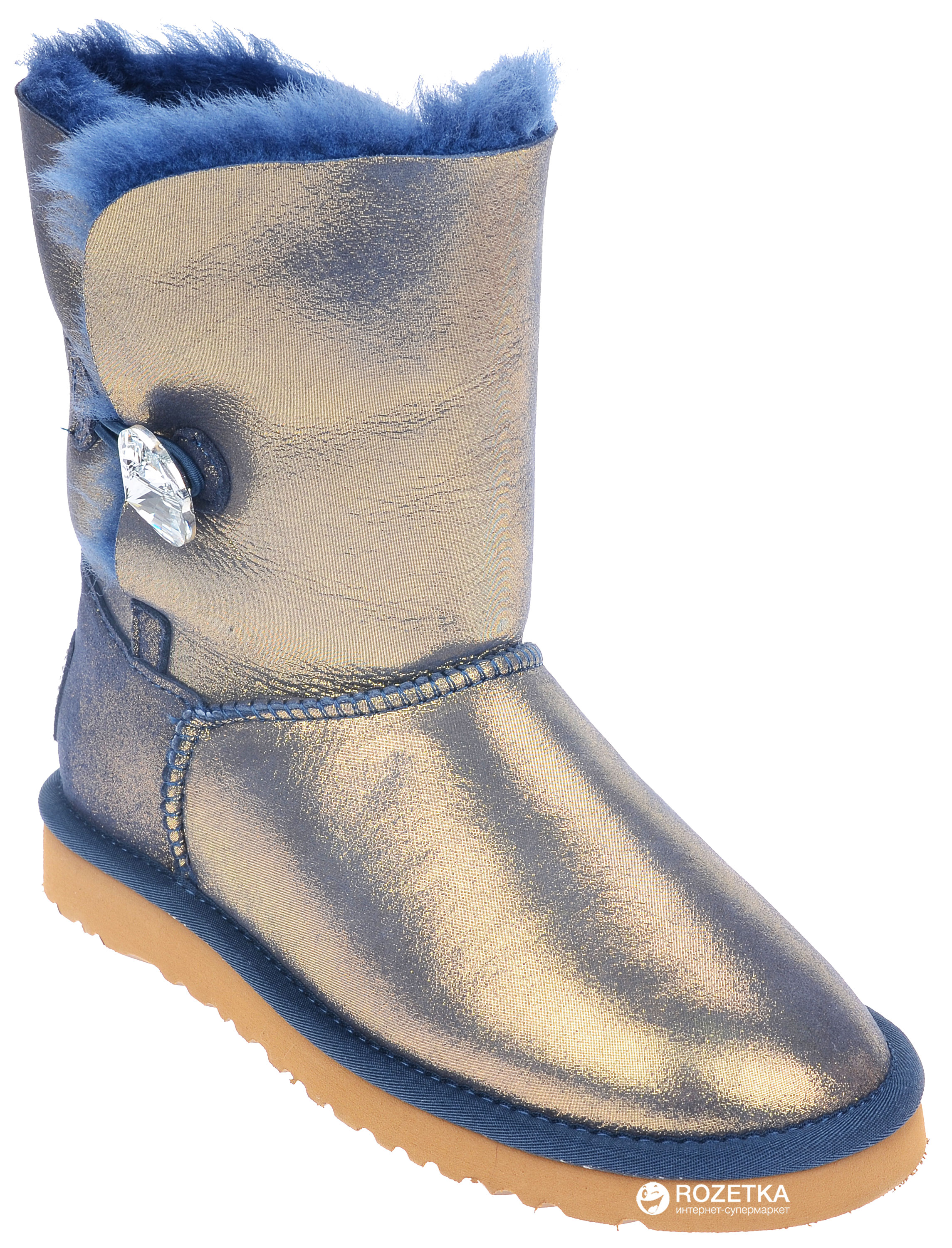 696d1e73cb3 norway ugg bailey button bling metallic blue ea7d1 befd6