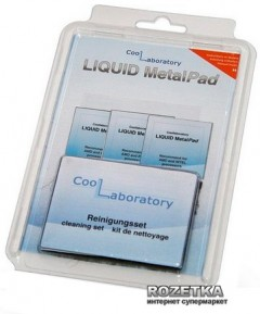 Термопаста Coollaboratory Liquid MetalPad (CL-LMP-3CPU-CS)