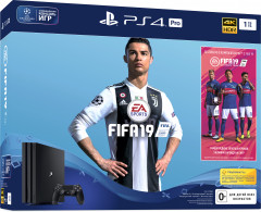 PlayStation 4 Pro 1TB Rus Black (CUH-7108B) Bundle + игра FIFA 19 (PS4)