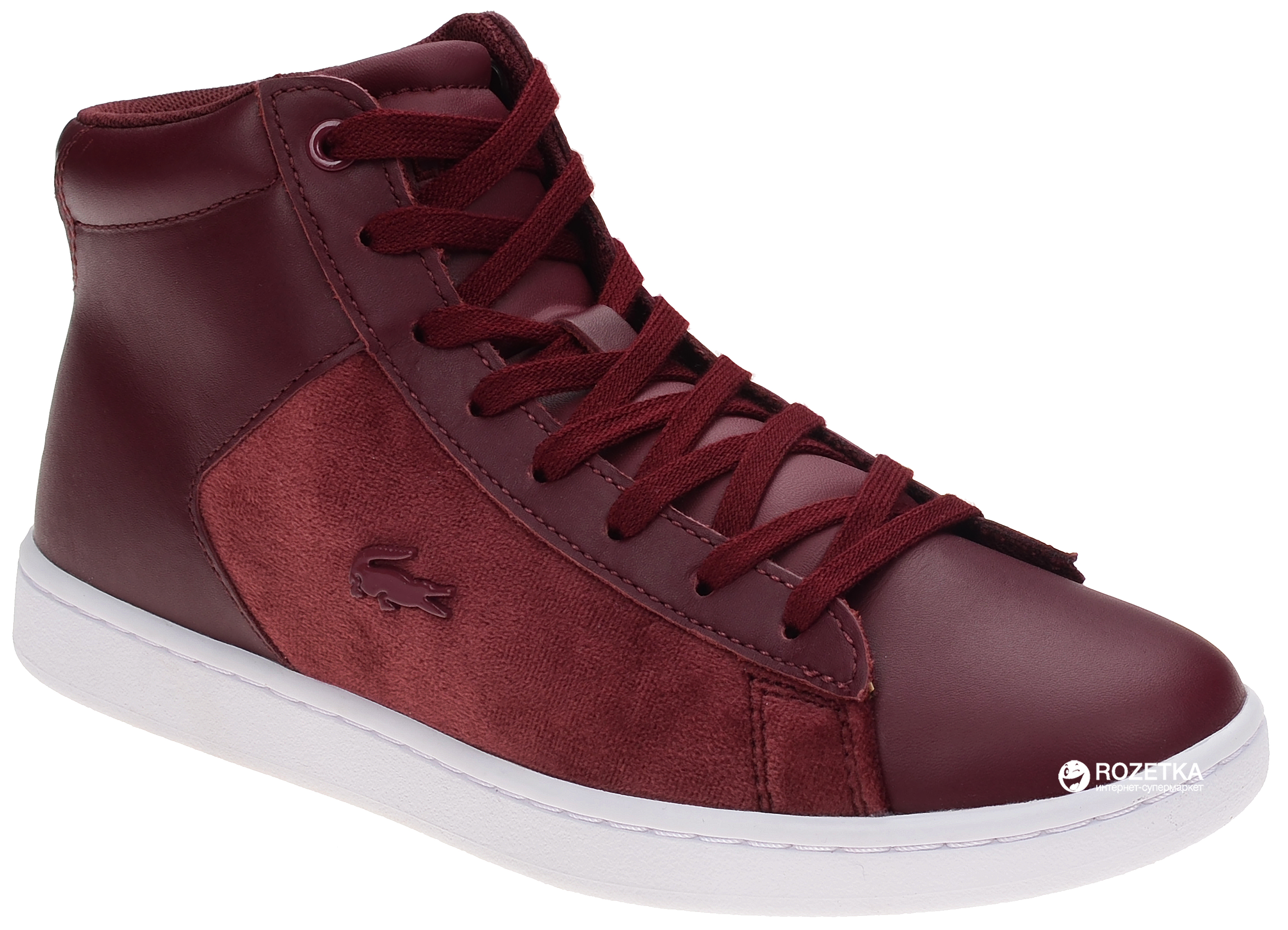 f4c6d2874ad1 Кеды Lacoste Carnaby Evo Mid 318 1 Spw 736SPW00172H2 38.5 (5.5) 25 см (