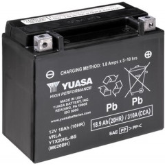 Мото аккумулятор Yuasa 12V 18.9Ah High Performance MF VRLA Battery AGM YTX20HL-BS (сухозаряжений) (YTX20HL-BS)