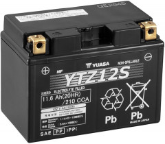 Мото аккумулятор Yuasa 12V 11.6Ah High Performance MF VRLA Battery YTZ12S (GEL) (YTZ12S)