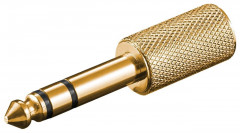 Перехідник аудіо Goobay Jack 3.5mm 3pin-6.3mm F/M Stereo Gold Metal золотистий(75.01.1062)