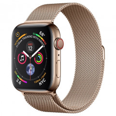 Apple Watch Series 4 GPS + LTE 44mm Gold Stainless Steel Case with Gold Milanese Loop (MTV82)