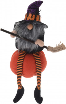 Декоративная игрушка Home&Styling Collection Witch on pumpkin 43 см Grey (APF951220_grey)