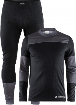 b967c2306f0de Комплект мужского термобелья Craft Baselayer Set Man 1905332-999975 L Black  DK Grey Melange (