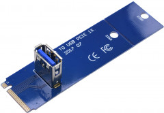 Адаптер-райзер Dynamode NGFF M.2 Male to USB 3.0 Female для PCI-E 1X (RX-riser-M.2-USB3.0-PCI-E)