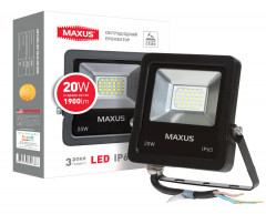 Прожектор MAXUS LED FLOOD LIGHT 20W 5000K (1-MAX-01-LFL-2050)
