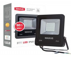 Прожектор MAXUS LED FLOOD LIGHT 50W 5000K (1-MAX-01-LFL-5050)
