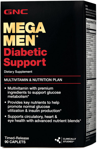 Витамины GNC Mega Men Diabetic Support 90 caps (048107123765) - изображение 1