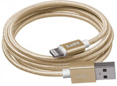 Кабель LAUT Usb Cable to Lightning 1.2m (LAUT_LKM_LTN1.2_GD) Gold