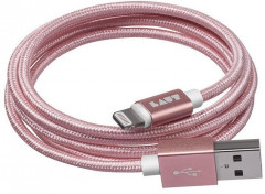Кабель LAUT Usb Cable to Lightning 1.2m  (LAUT_LKM_LTN1.2_RG) Rose Gold