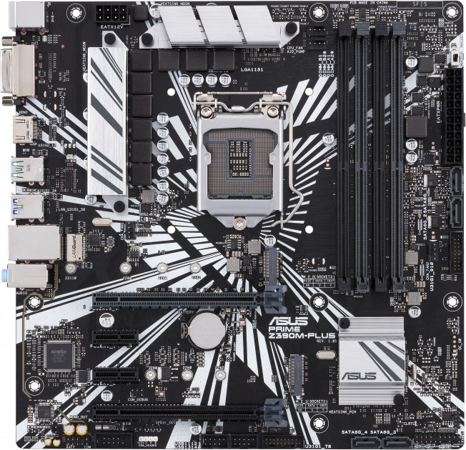 Материнская плата Asus Prime Z390M-Plus (s1151, Intel Z390, PCI-Ex16)