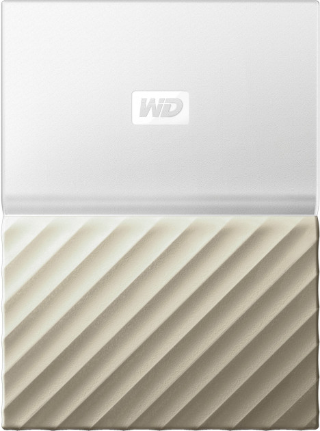 Жесткий диск Western Digital My Passport Ultra 2TB WDBTLG0020BGD-WESN 2.5 USB 3.0 External White-Gold