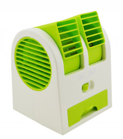 Мини-кондиционер Conditioning Air Cooler USB Electric Mini Fan Белый с зеленым (AC011)