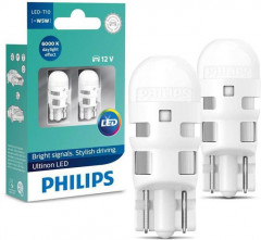 Автолампы Philips W5W Ultinon 6000K (11961ULWX2)