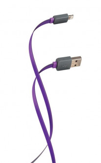Кабель Florence Color USB-Lightning 2A, 1м, Purple (FDC-L1-2P)