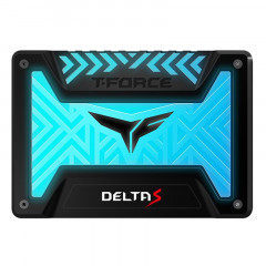 "Накопитель SSD 500GB Team T-Force Delta S RGB 2.5"" SATAIII 3D NAND TLC Black (T253TR500G3C312)"