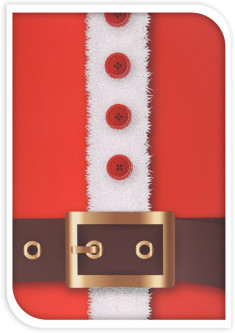 Подарочный пакет Christmas Decoration Brown belt 32x26x10 см (ABB300050_brown_belt)