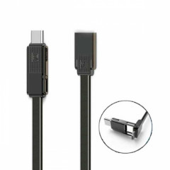 Кабель USB 3 в 1 Lightning Micro Type-C Remax OR Gplex RC-070th 1m черный