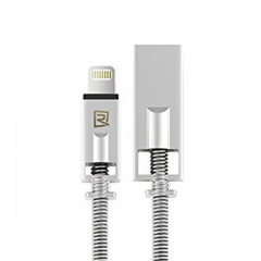 Кабель USB Lightning Remax Royal RC-056i iPhone 6 6S 1m серебристый