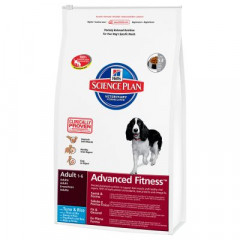 Сухой корм для собак Hill's Science Plan Canine Adult Advanced Fitness Medium Tuna & Rice 12 кг