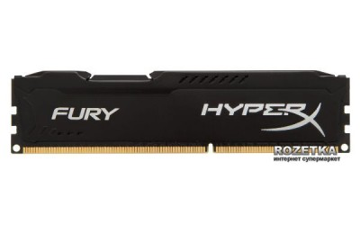 Оперативна пам'ять HyperX DDR3-1600 8192MB PC3-12800 FURY Black (HX316C10FB/8)