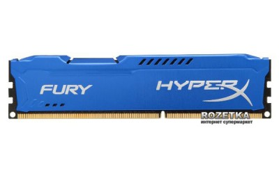Оперативна пам'ять HyperX DDR3-1600 8192MB PC3-12800 (Kit of 2x4096) FURY Blue (HX316C10FK2/8)