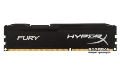 Оперативна пам'ять HyperX DDR3-1600 8192MB PC3-12800 (Kit of 2x4096) FURY Black (HX316C10FBK2/8)