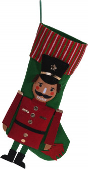 Носок для подарков Christmas Decoration Nutcracker 23x1x47 см Red (DH8026480_red)