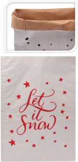 Подарочный пакет Christmas Decoration Let it snow 40x23x54 см (J11500600_let_it_snow)
