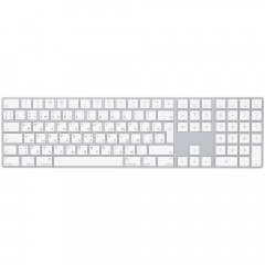 Клавиатура беспроводная Apple Magic Keyboard with Numeric Keypad Bluetooth Rus Silver/White (MQ052RS/A)