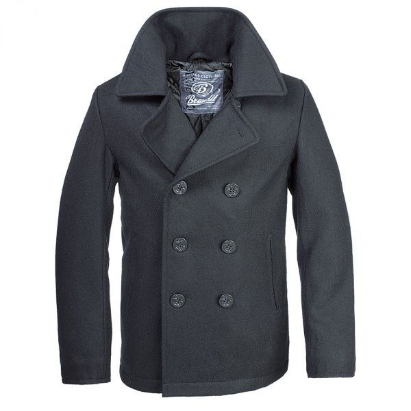 Бушлат Brandit Pea Coat BLACK 4XL Черный (3109.2)