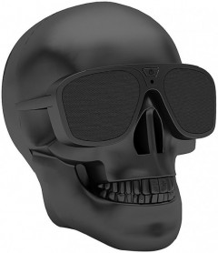 Bluetooth-колонка Dabs Audio Skull Chrome Black